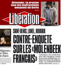 Prima pagina din Liberation