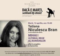 Seara de lectura cu Tatiana Niculescu Bran