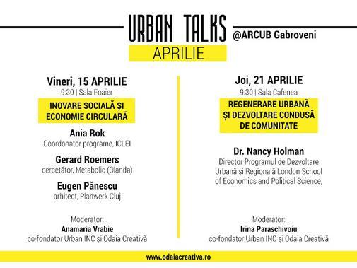 Urban Talks pe 15 si 21 aprilie