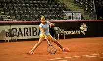 Monica Niculescu se intinde dupa o minge