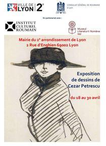 Grafica lui Cezar Petrescu la Lyon