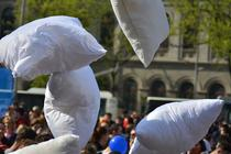 Pillow Fight Day in Bucuresti