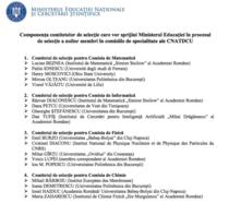 Lista expertilor care vor asista Ministerul Educatiei