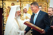 Klaus Iohannis si Patriarhul Daniel (octombrie 2015)