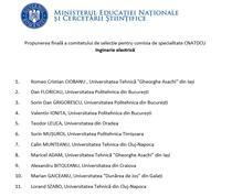 Propuneri comisie CNATDCU - Inginerie electrica