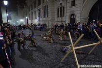 Muzeul de Istorie al Romaniei: Reconstituire istorico-militara de Noaptea Muzeelor