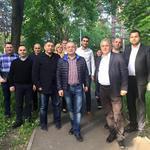 Emil Boc si o parte din liderii PNL Cluj
