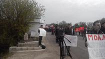Proteste la intrarea in Moldova a unor blindate ale SUA