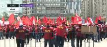 Protest al angajatilor Postei Romane