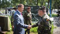 Klaus Iohannis, la exercitiul NATO Steadfast Cobalt 2016