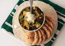 Salata calda de zucchini si porumb