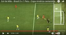 Golul cu mana marcat de Raul Ruidiaz