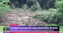 Alunecari de teren in Comanesti, jud. Bacau