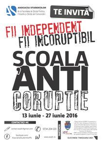 Afis Scoala de Anticoruptie