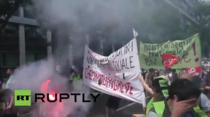 Un nou protest sindical in Paris