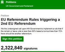 Petitie pentru un nou referendum in UK