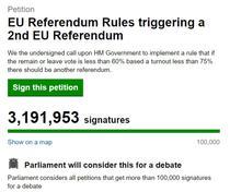 Petitia pentru un nou referendum, investigata de parlament