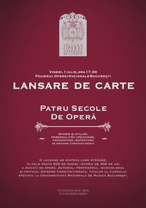 """""""Patru secole de opera"""" de Grigore Constantinescu"""
