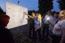 Gabriela Firea prezentand proiectul pentru Teatrul Nottara