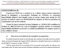 captura de ecran Raport al Curtii de Conturi