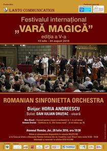 Romanian Sinfonietta la Vara Magica 2016