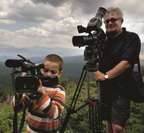 Dumitru Budrala la filmarile Drumul regilor - Transalpina