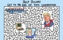 Puzzle: Poate Hillary Clinton sa iasa din acest labirint?