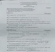 BAC 2016 Subiectele la Matematica (mate-info)
