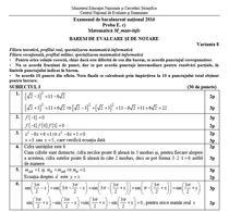 BAC 2016 Barem Matematica - mate-info