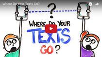Care este drumul parcurs de un mesaj text de la un telefon mobil la altul?