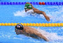 Michael Phelps, in proba de 200 metri fluture