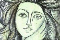 500 de ani de frumusete feminina in pictura - Portrait of Françoise de Pablo Picasso in 1946