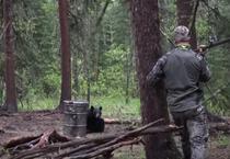 Urs vanat cu sulita