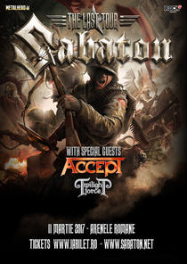 Sabaton, Accept si Twilight Force in Romania