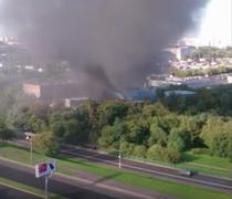 Incendiu la un depozit din Moscova