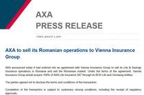 Axa isi vinde operatiunile din Romania catre VIG
