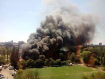 Incendiu in Capitala