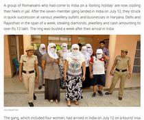Hoti din Romania, arestati in India