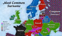 Cele mai comune nume de familie in tarile europene