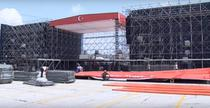 Pregatirea mega-mitingului organizat de Erdogan