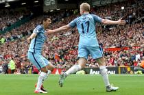 Kevin De Bruyne a deschis scorul pe Old Trafford