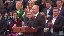 Vladimir Putin, in Piata Rosie