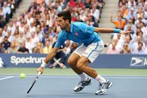 Novak Djokovic, in timpul meciului cu Stan Wawrinka
