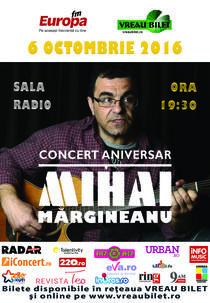 Margineanu, concert aniversar la Sala Radio