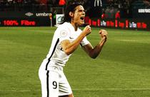 Edinson Cavani, patru goluri pentru PSG