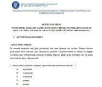 Modele subiecte concurs directori scoli