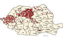 Harta cazurilor de rujeola consemnate pana la sfarsitul lunii august