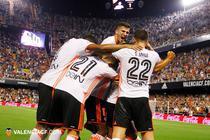 Jucatorii Valenciei si bucuria victoriei