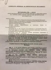 Proiectul de infiintare a firmei Primariei Bucuresti