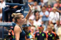 Simona Halep, salutand publicul de la US Open